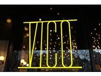 Experienced waiters needed at VICO Italian Restaurant (£9.00p/h)