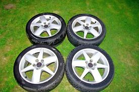 SAAB 9-3,9-5 Alloys with Tyres.