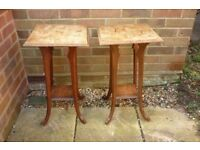pair vintage side tables