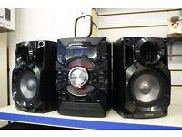 PANASONIC Hi-Fi System Wireless CD player Bluetooth AM/FM tuner 350w SC-AKX18E-K