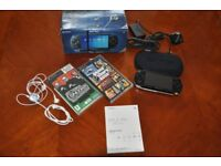 PSP-1003 G1 Giga Pack Black Console System with 2 games & extra 1gb memory card