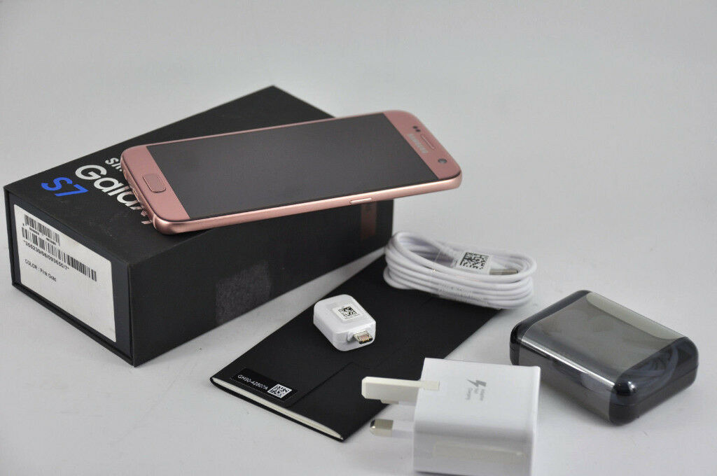 Samsung Galaxy S7 SM-G930F 32GB (Unlocked) Smartphone PINK GOLD UK STOCK
