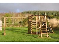 Garden Jungle Gym - large, strong, swings, fort, firemans pole, climbing wall etc