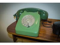 Vintage retro Mid century modern Dial Phone