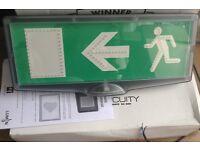RARE 5 EMERGENCY EXIT SIGNAGES IP65 172 Lumens