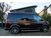 VW T6 CAMPERVAN - IN BLACBERRY -ALL HIGHLINE EXTRAS - AIRCON / CRUISE ETC