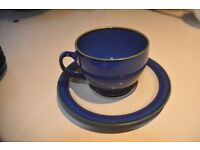4 Denby Metz Cups and saucers