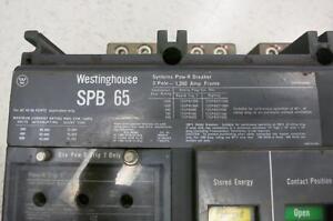 Westinghouse SPB 65 1600 AMP POW-R Breaker 1600A Plug MO/EO Cutler Ham