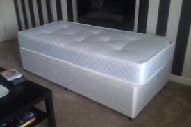 Single Divan Bed & Mattress