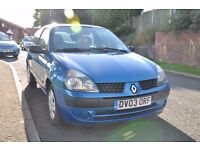 BLUE RENAULT CLIO 1.2 EXPRESSION 3DR HATCHBACK *long mot*