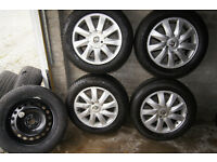 Renault 16'' alloy wheels + 4 x tyres 205 60 R 16''