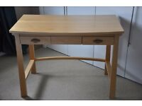Solid wood bedside table (2 drawers)