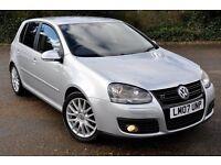 2007 Volkswagen Golf 2.0 TDI GT 5dr+DIESEL+1 OWNER FROM NEW+6 SPEEDS+SPORT+12 MONTHS MOT+WARRANTY