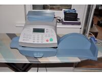 PITNEY BOWES P720 FAX MACHINE WITH SCALES & LEADS, WORKING.