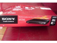 "NEW IN BOX ""SONY"" SLIMLINE DVD PLAYER WITH REMOTE CONTROL"