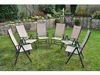 Set of 6 x reclining foldup chairs
