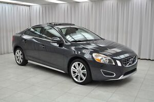 2012 Volvo S60 T5 TURBO SEDAN w/ HTD LEATHER, DUAL CLIMATE, SUNR
