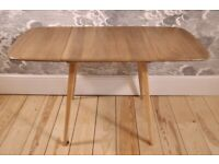 Vintage Retro 60's Ercol Windsor Rectangular Drop Leaf Planxk Table - As New - Renovated