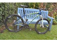 Giant Talon 27.5 Mountain Bike in nearly new condition for sale with owners manual .