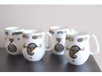 Royal Tara Set of 4 Bone China Mugs