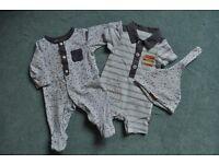 Mothercare- Humphrey's Corner tiny baby boy set
