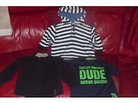 AGE 3-4 YEARS SELECTION OF BOYS CLOTHES JUMPER + T-SHIRT