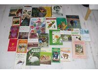 SELECTION OF 32 BOOKS ON VARIOUS TOPICS COOKING, ANIMAL CARE, CRAFT,DAVID ATENBOROUGH