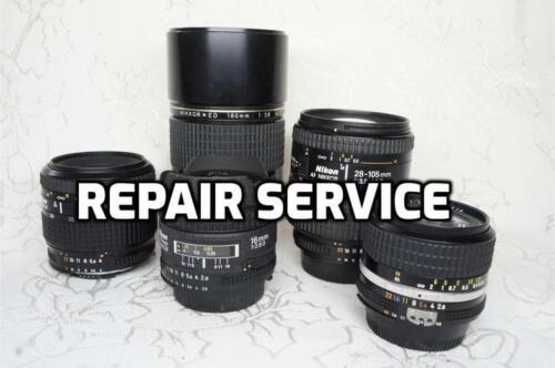 """REPAIR SERVICE""  Nikon Lens Service and Overhaul 6 months warranty"