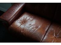 3 Seater Leather Sofa - Free - Must Collect Wednesday Afternoon 27/07/2016