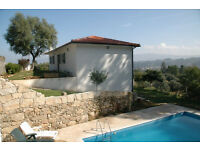 Detached villa with pool in Minho region of Northern Portugal, private location but not isolated