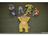Bundle of soft moving and talking toys ( Talking Tom, Teletubbies, Lamaze )