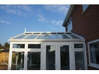 Ultaframe GLASS ROOF Complete with Glass Units & Internal Roof Blinds