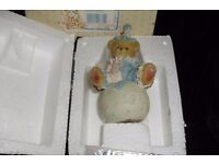 "CHERISHED TEDDIES ""WALLY"" CLOWN ON BALL FIGURINE COMPLETE IN ORIGINAL BOX"