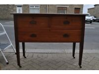 victorian mahogany chest of drawers dresser shabby chic