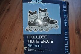 A pair of British Knights moulded Inline skates - Size 10