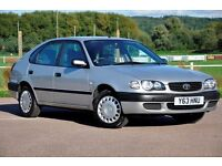 2001 Toyota Corolla 1.6 S 5dr+1 FORNER KEEPER+AUTOMATIC+12 MONTHS MOT+ FULL SERVICE HISTORY