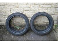 2 x 205/45 R17 81 V Yokohama Advan Sport Runflat Part Worn Tyres