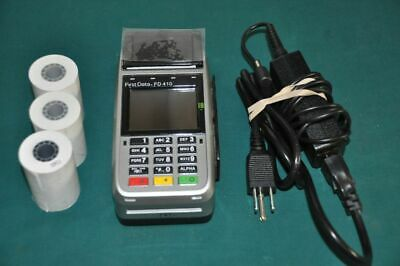 Credit Card Mobile Wireless Terminal Fd410 Smart Chip Reader Firstdata Nice
