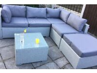 Grey 4 piece garden sofa