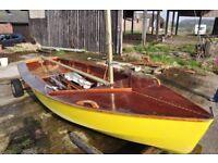 Sailing Dinghy, 17ft, hand built.