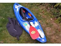 Dagger Dynamo Kayak + Paddle, spraydeck & Cag