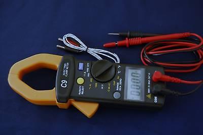 Trms Ac Dc Clamp Meter Ammeter Digital Multimetercapacitor Tester Hvac Tool New