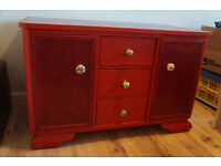 Chest of drawers - red