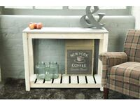 Farmhouse Rustic Console Table - Rough Sawn - New - Free Delivery