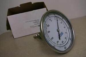 "WIKA TI.52 Bimetal Silicone Filled Thermometer 50/400 FC, STEM 2.5, 5"" DIAL"