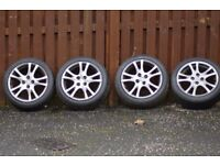 Mazda 2 Alloy Wheels with tyres for sale.