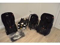 Recaro bumper set of childseats (Young Profi Plus, Young Expert Plus, Young Expert) + 2x Isofix base