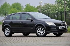 2004 Vauxhall Astra 1.6 i 16v Club 5 DOORS+HATCHBACK+1 FORMER KEEPER+BLACK+NEW SHAPE