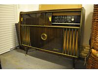 Vintage Blaupunkt radiogram and drinks cabinet