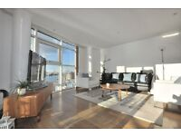 **NO DEPOSIT REQUIRED**2 bedroom, 2 bathroom penthouse in Canary Wharf over looking the Thames E14
